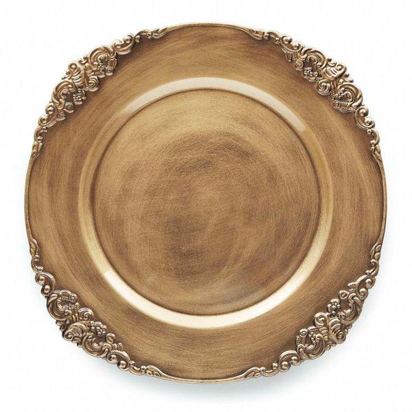 Sousplat Galles barroco ouro 33cm Copa