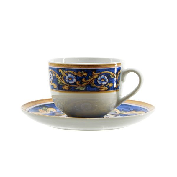 Jogo xícara de chá Mayolica Royal 6 peças 17418/3 Rojemac