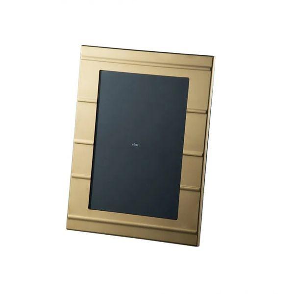 Porta retrato Carrara Friso Velvet 10x15 banho ouro 24k Riva